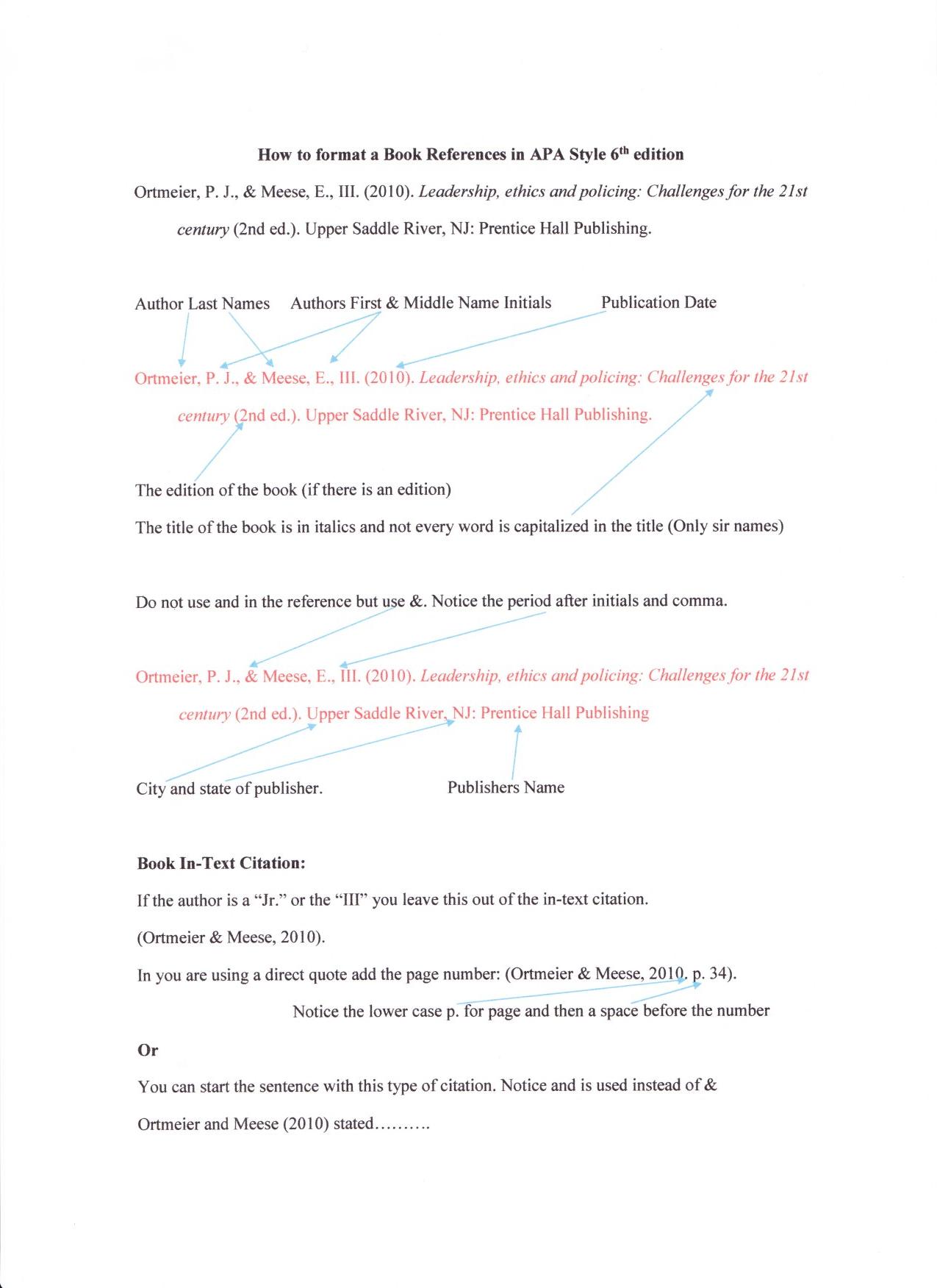 Reference book format apa altavistaventures Images