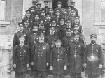 Boston police officers in uniform from 1877