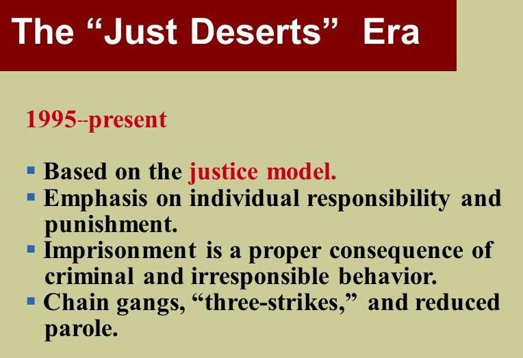 just deserts criminal justice