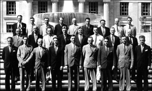 The first graduates of the Bureau's training program for national police exectives, the forerunner of today's National Academy, in 1935.